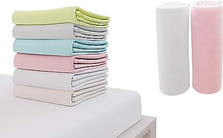 2x bébé//lit junior 100/% coton jersey drap housse 140 x 70 cm blanc
