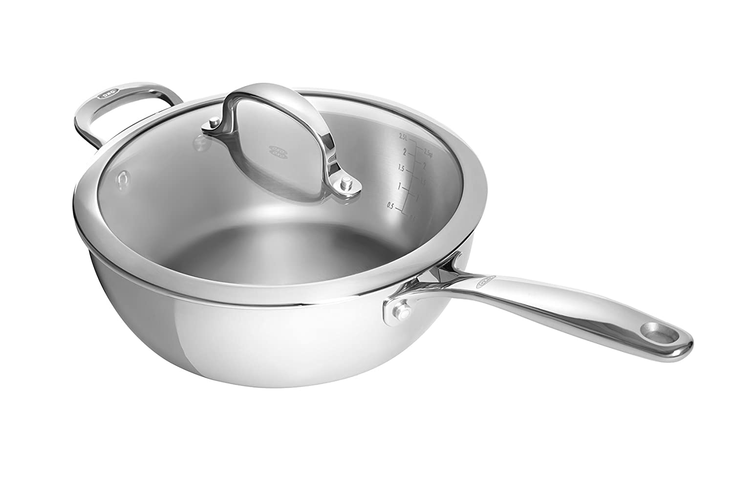 Oxo Good Grips Tri Ply Stainless Steel Pro 3.5 Qt Covered Saucepan by Oxo