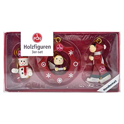 1. FC Nürnberg - Navidad Figuras de madera (Juego de 3): Deportes y aire libre