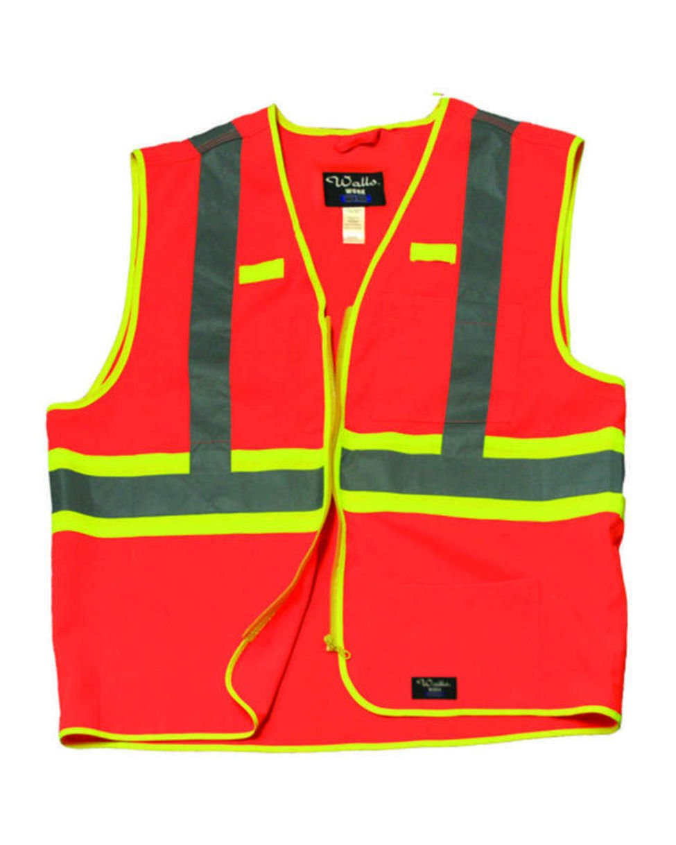 Walls Ansi Ii Safety Vest High Visibility Large Orange