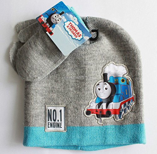 Thomas Friends Engine Train Boys Winter Hat Gloves Beanie Cap SET Mittens Kids
