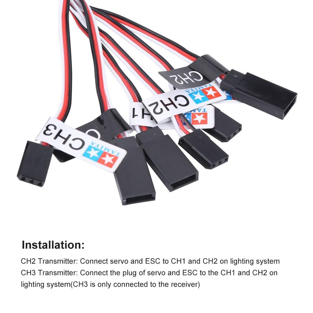 RC Lighting System Bright 12 LED RC Car Lighting Kit for 1//10 1//8 RC Car Truck Crawler