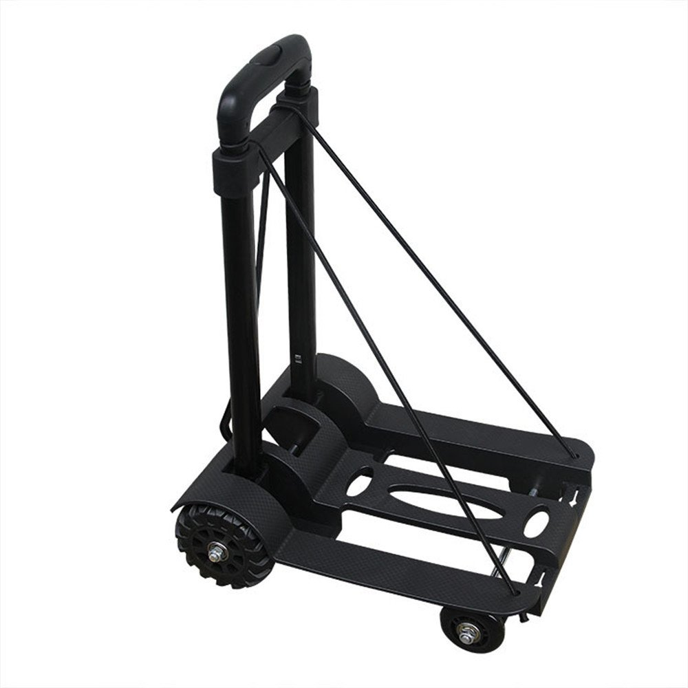 Wispun 4-wheel Folding Luggage Cart Portable Shopping Trolley Folding Hand Truck Bearing 75 Kg/165 lbs Capacity