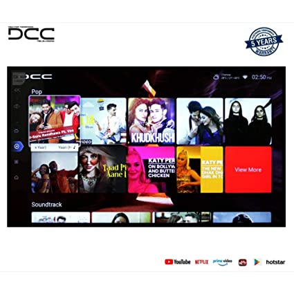 DCC 124 cm  49 Inches  4K Ultra HD Smart LED TV 49S  Black   2019 Model  Televisions