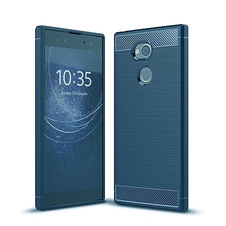 GOGME Sony Xperia XA2 Ultra Hülle, Silikon TPU Schale [Carbon Fiber Series] Flexibles TPU Anti-Scratch Super Weiche Schutzhül