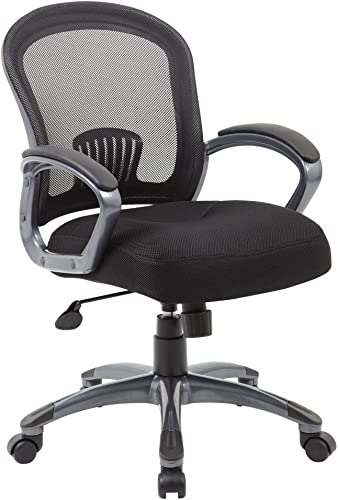 Boss Office Products BOSXK Mid Back Ergonomic Task Chair, Black