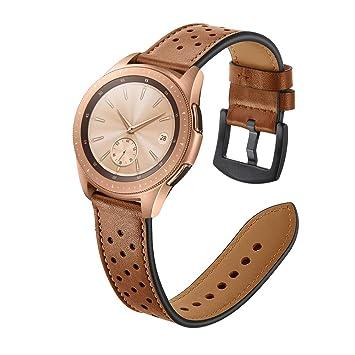 AISPORTS - Correa de piel para reloj Samsung Galaxy de 46 mm ...