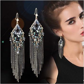 Populaire élégant cristal Strass Ear Stud Dangle Boucles d/'oreilles pendantes Charme Bijoux