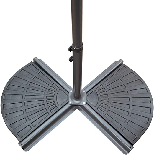 Black 2 Pack Cement Filled 14kg Cantilever or Banana Parasol Base Weights