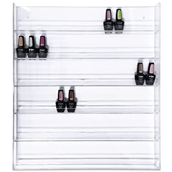 Wondrous 96 Bottle Nail Polish Wall Rack Display Interior Design Ideas Tzicisoteloinfo