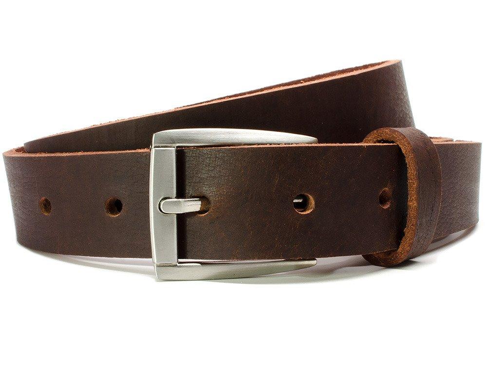 Nickel Smart - Child's Roan Mountain Belt - Youth Genuine Full Grain Brown Leather Belt with Nickel Free Buckle - 32''