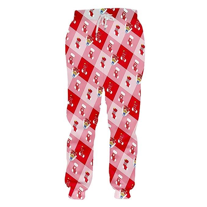 UK-PEIJIAN Pantalones de chándal navideños para Hombres Medias ...