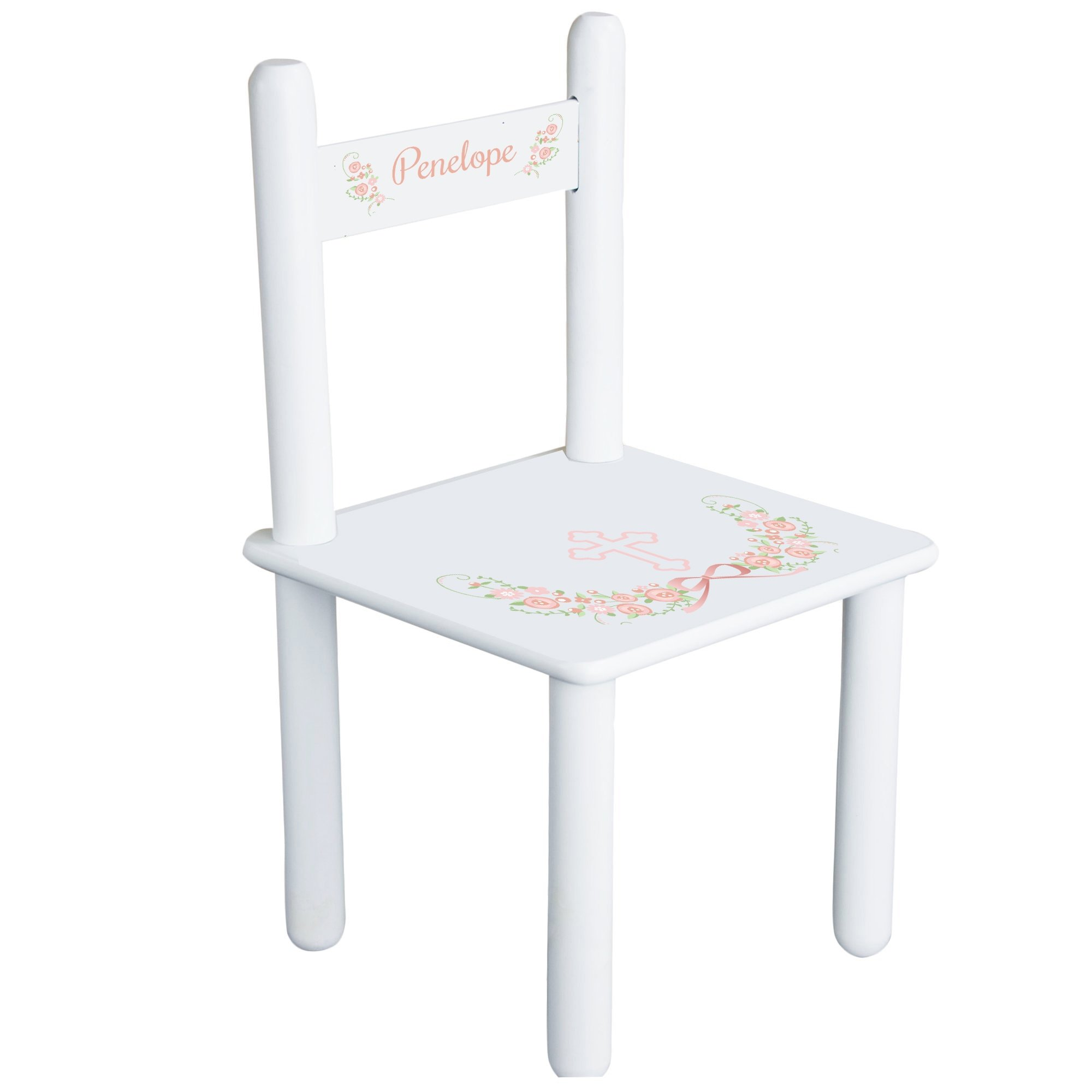 MyBambino Personalized Blush Baptism Theme Childrens Chair