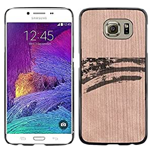 Funda Cubierta Madera de cereza Duro PC Teléfono Estuche / Hard Case for Samsung Galaxy S6 / Phone Case TECELL Store / American Flag Patriotic Usa Stripes American Flag Patriotic Usa Stripes
