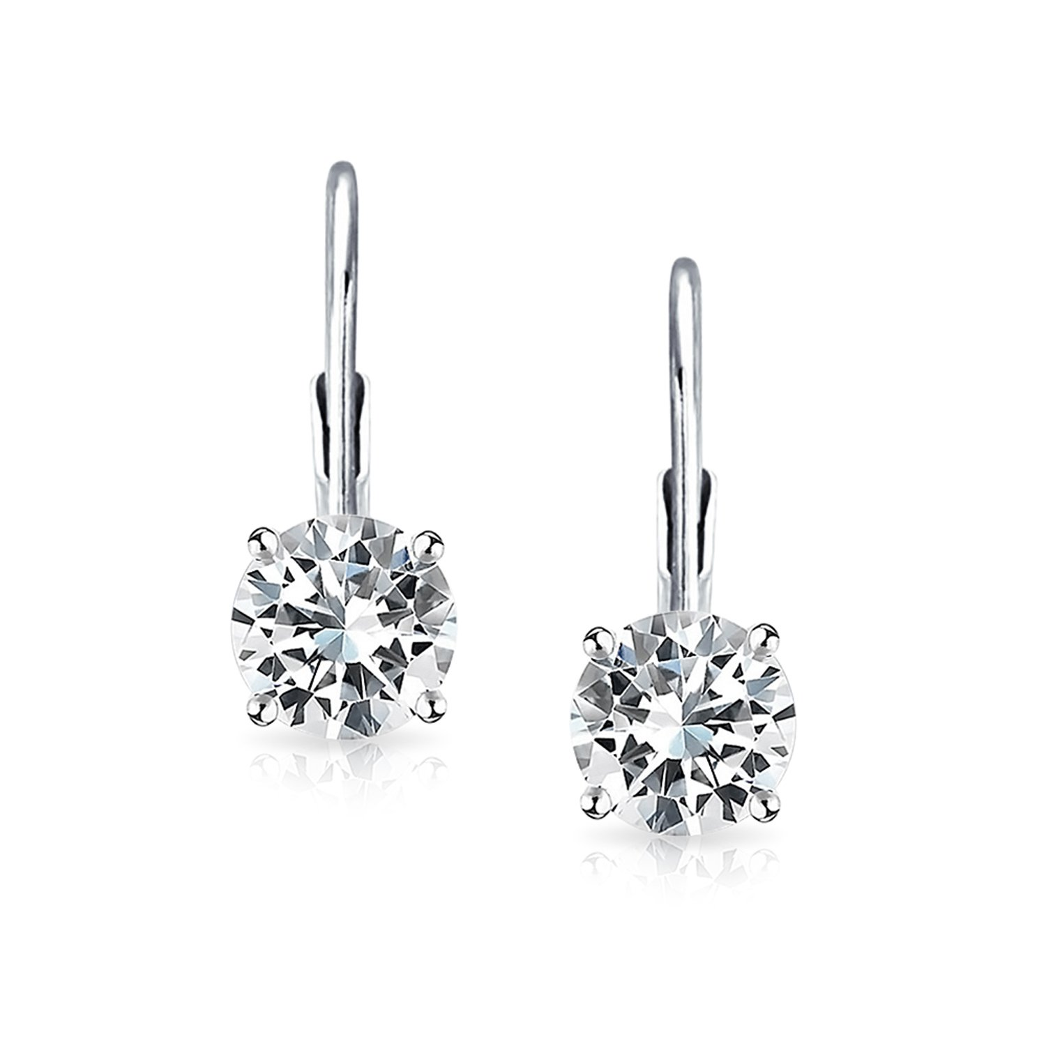 Amazon Bling Jewelry CZ Solitaire Leverback Earring 925