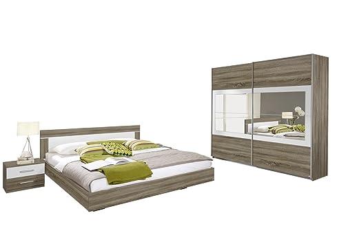 Rauch Schlafzimmer Komplett Set Mit Bett 180X200, Schrank Mit