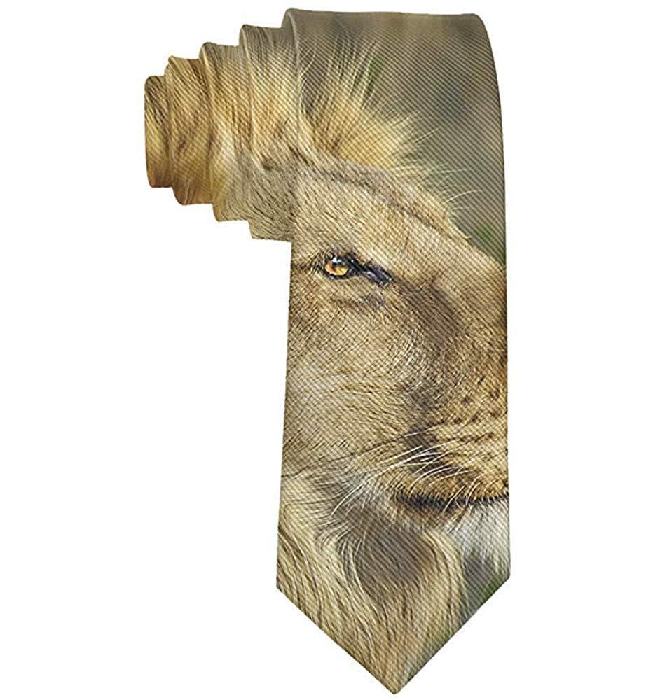 Corbata Hombre Rey León de Vida Silvestre Corbata Seda Poliéster ...