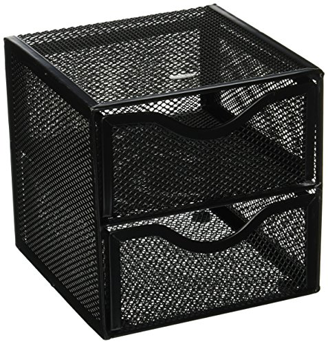 (Rolodex Black Mesh Desktop Organization Cube (FG9E5600BLA))