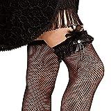 Roarin' 20's BLACK Lacy Feather Leg Garter w/ Faux Gem Accents