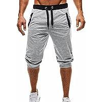 Pantacourt Homme - Hommes Doux Sport Fitness Jogging élastique Extensible Bodybuilding Confortable Bermudas Pantalons de Survêtement Ba Zha Hei