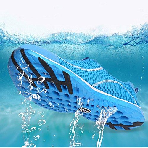 Saguaro Womens Mens Mesh Aqua Water Shoes Asciugatura Rapida A Piedi Sulla Spiaggia Allaperto (adulto, Unisex) Blu