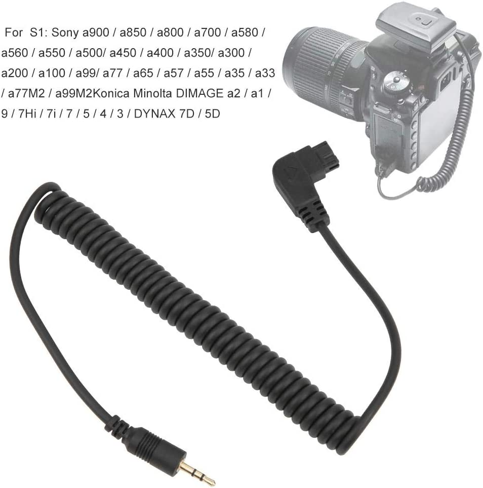 Serounder Camera Remote Shutter Release Connecting Cord Cable Wire for Sony A900 A850 A700 A77 Camera Photography Accessory