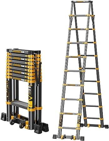 YTC Las escaleras Plegable de Aluminio telescópica de extensión telescópica Loft Escalera for RV, Home Office, DIY, Uso al Aire Libre, EN131 de Carga de 150 kg (Size : 2.7+2.7m): Amazon.es: Hogar