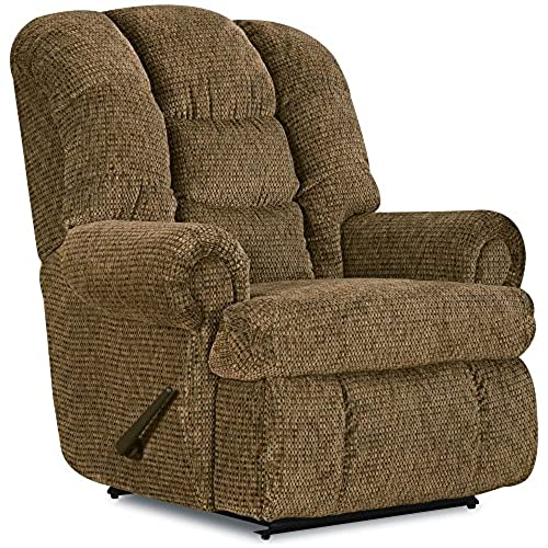Merveilleux Stallion Comfort King Chaise Wallsaver Recliner Color: Brown