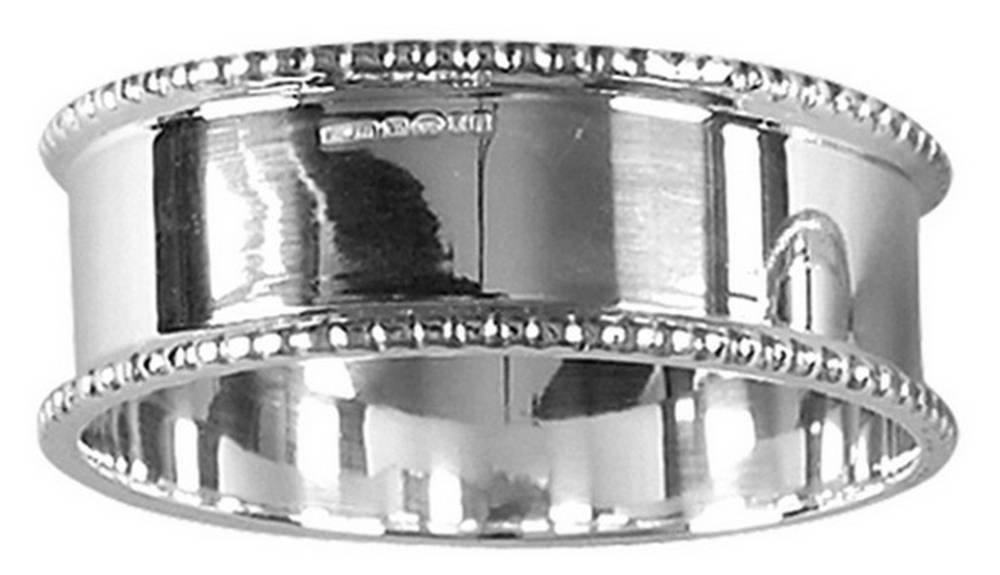 Silver Beaded Edge Napkin Ring by Orton West