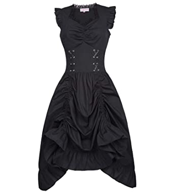355af35a26a MEET ME-punk dress Sleeveless V-Neck Lace-up Corset Ruffle Dress Steampunk