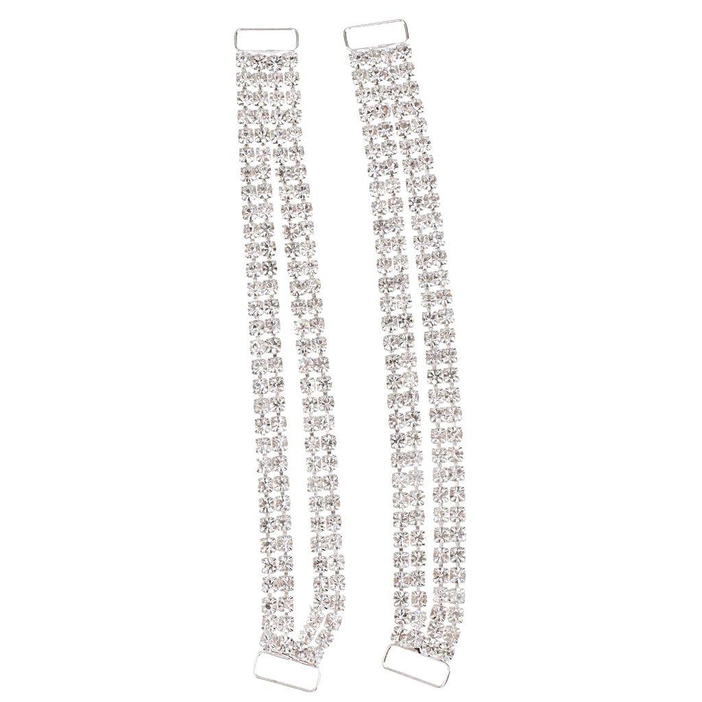 DIY Craft Diamante Bikini Connector Buckle Apparel Sew Accessory Sliver Pack of 2pcs