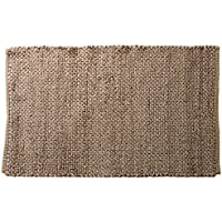 Outlavish Jute Area Rug - Chunky Handwoven Pattern, Natural, Durable & Reversible, Door Entry (2x3, Natural)