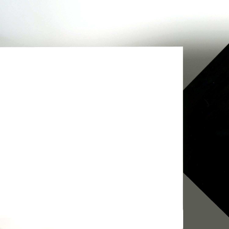 Lichtdurchl/ässigkeit 3/% Acrylglas Platte wei/ß gedeckt Ma/ße 25 x 25 x 0,5 cm