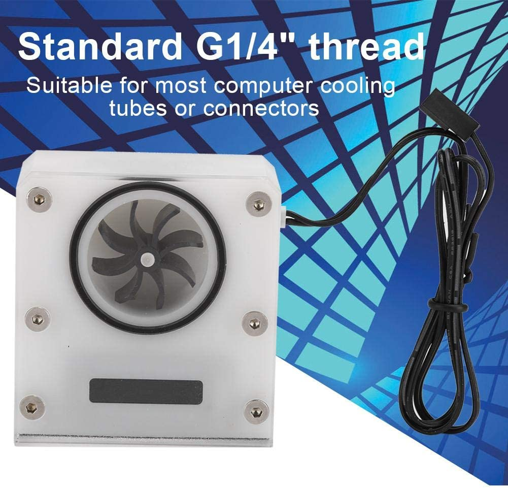 White G1//4 Yoidesu Computer Water Cooling Temperature Detector Kit,PC Water Cooling Flow Meter Flow Indicator with Dual Temperature Display,Flow Meter with Thermometer