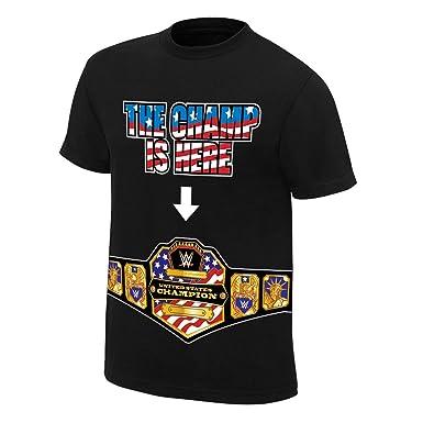 bdf98f12 John Cena The U.S. Champ is Here Authentic T-Shirt, 5XL: Amazon.co.uk:  Clothing