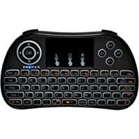 Redlemon Teclado Inalámbrico Wireless Mini con Touchpad y Retroiluminación, para Gaming, Streaming, Smart TV, Laptop, PC, Consolas, Xbox, Chromecast, Fire TV
