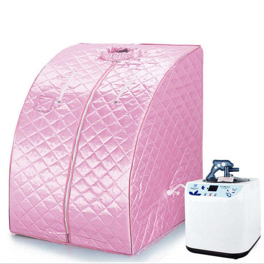 Sauna Box Bain de Vapeur mobile Spa Pliable Ménage à Vapeur Télécommande Température Rose Vendeur Pro