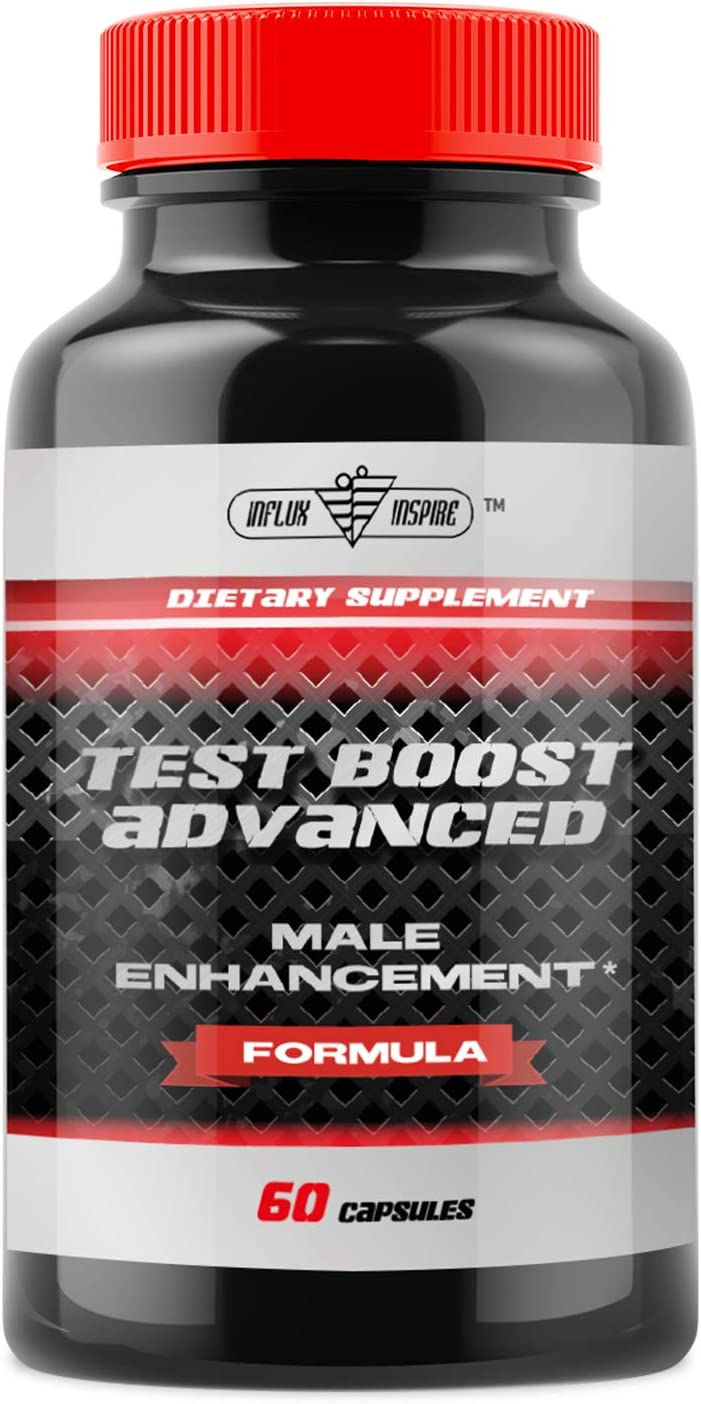 Test Boost Advanced Supplement for Men – Increase Stamina Build Muscle Mass – Boost Energy, Mood, Endurance, Strength – All Natural Performance Supplement – 60 Capsules
