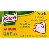 Knorr Pork Bouillon Cubes 2.2 Oz. - 3 Pack