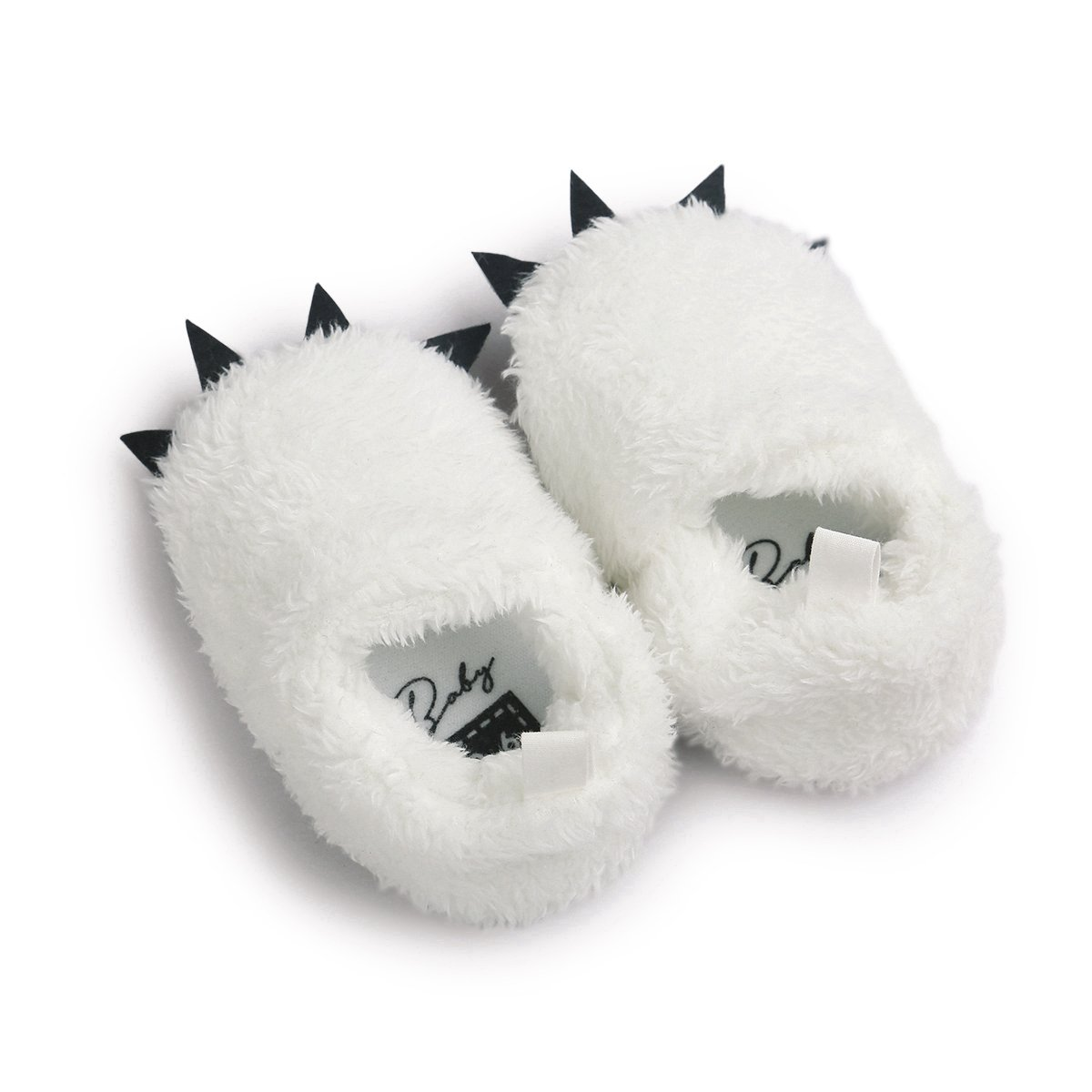 Vanbuy Baby Boys Girls Shoes Bear Paw Animal Slippers Boots Newborn Infant Crib Shoes WB28-White-L by Vanbuy (Image #3)