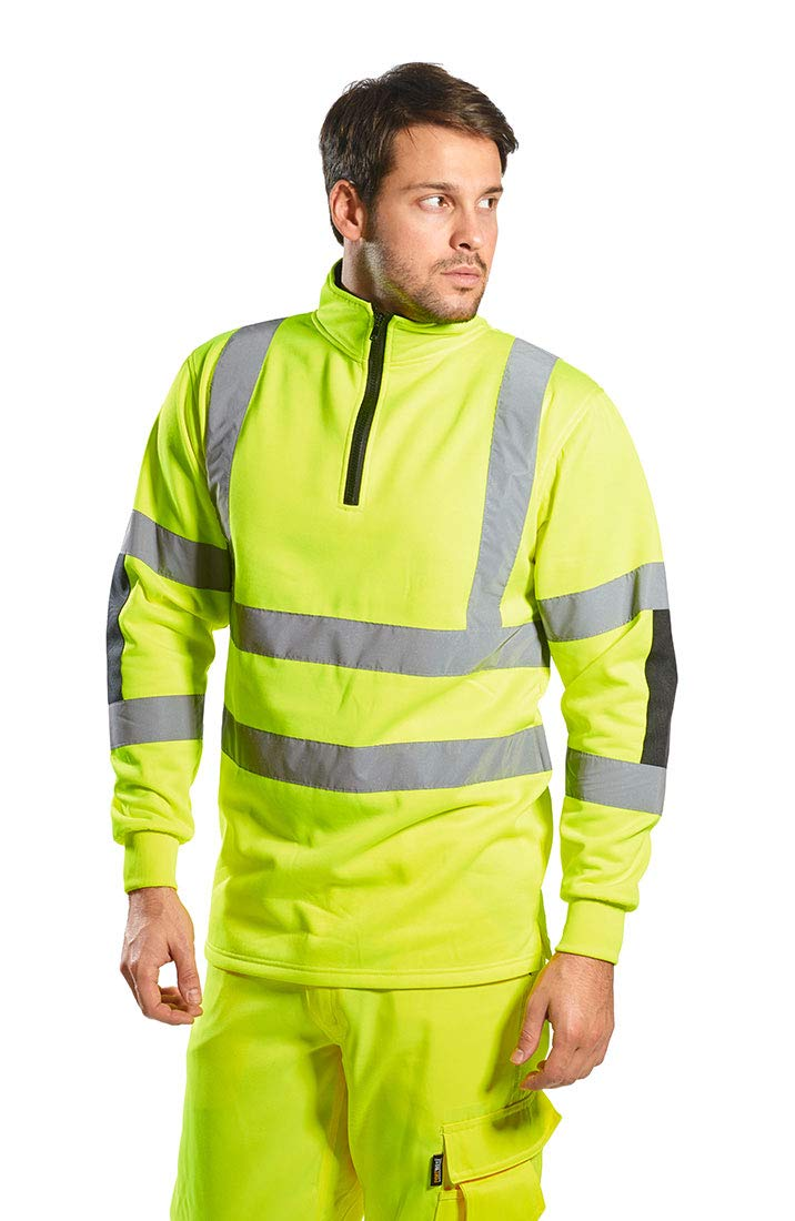 Portwest Xenon Rugby Sweatshirt Pullover Jumper Safety Reflective Work Wear Warm Top ANSI 3, 5XL Yellow by Portwest (Image #1)