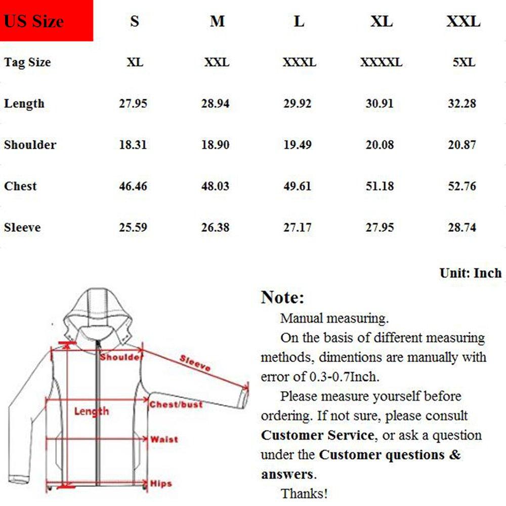 PHerMAN Men's Waterproof Fleece Ski Jacket Windproof Down Coat Puffer Jacket with Removable Hood (US XL/Tag 4XL, Black) by PHerMAN (Image #6)