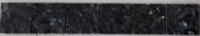 Hochwertige Mosaik Bord/üre aus Original Blue Pearl Granit im Format von 30 x 4,8 cm