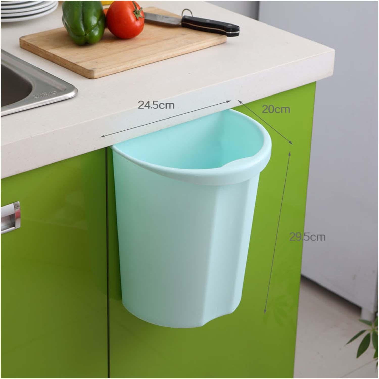 OOFYHOME Home wall-mounted trash cans, with no cover thick plastic cabinet large storage barrels, the kitchen can be linked to trash , E by OOFYHOME