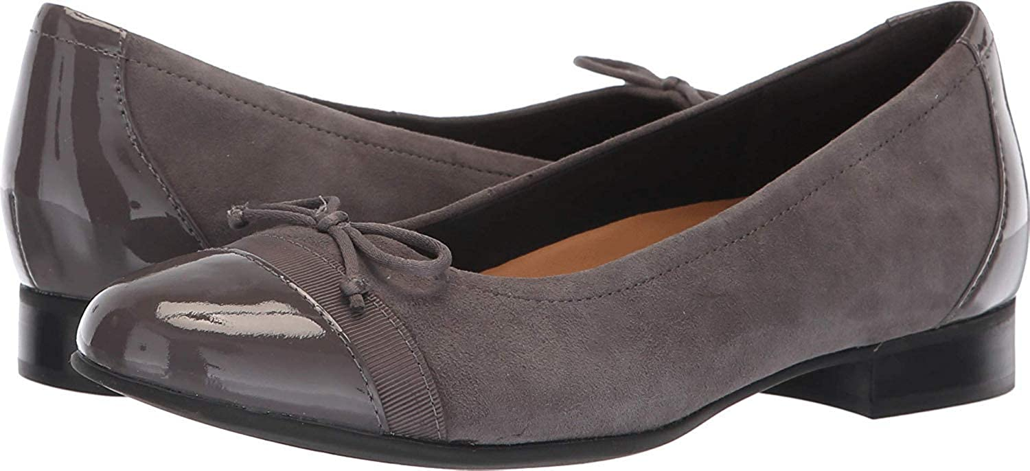 Clarks CLARKS26136917 - Un Blaush Combination) Kappe Damen (grau Suede Patent Leather Combination) Blaush 39.5 EU W 44a39a