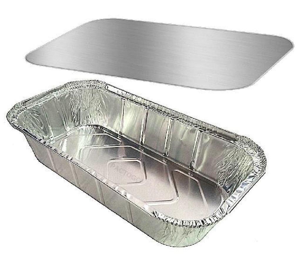 4 lb. Oblong Deep Casserole Dinner/Meal TakeOut Foil Pan w/Board Lid