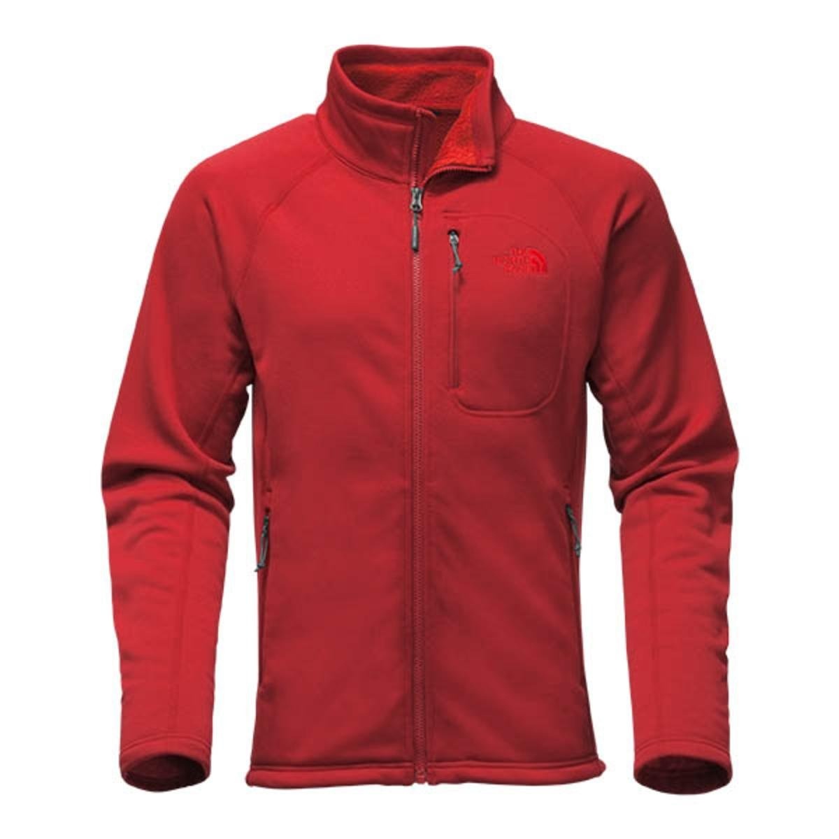 fe7a03ff7 The North Face Men's Red Timber Full-Zip Fleece Jacket Cardinal Red ...
