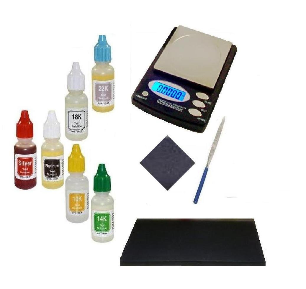 Beginner Coin Collector Kit- Electronic Scale with PuriTEST Purity Testing Kit and More- Gift Idea