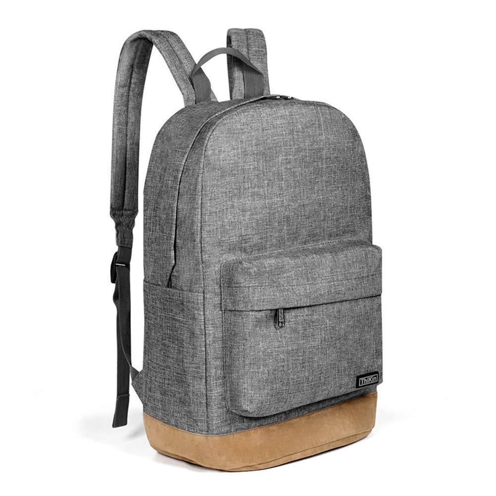DoinMaster-Thikin Cool Urban Bussiness Fashional Laptop Backpack Mens Womens College Shoulders Backpack Bookbag Fits for 15.6 Laptop – Light Grey