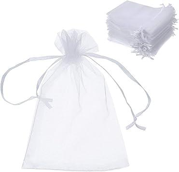 100 x papillon cordon organza cadeau de mariage bijoux bonbons Sac Pochette 7x9cm